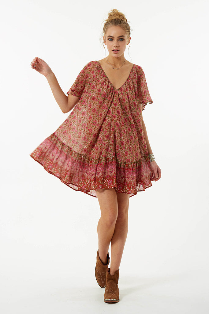 Spell Kombi Flutter Dress Spice - Call Me The Breeze - 3