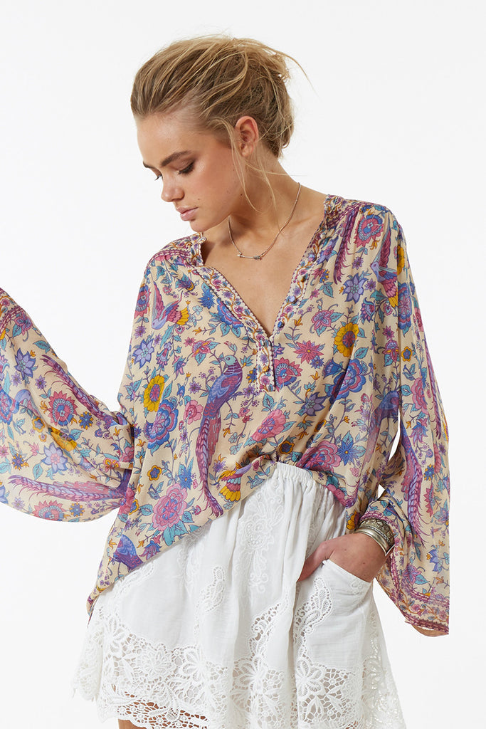 Spell Lovebird Blouse Chamomile - Call Me The Breeze - 4