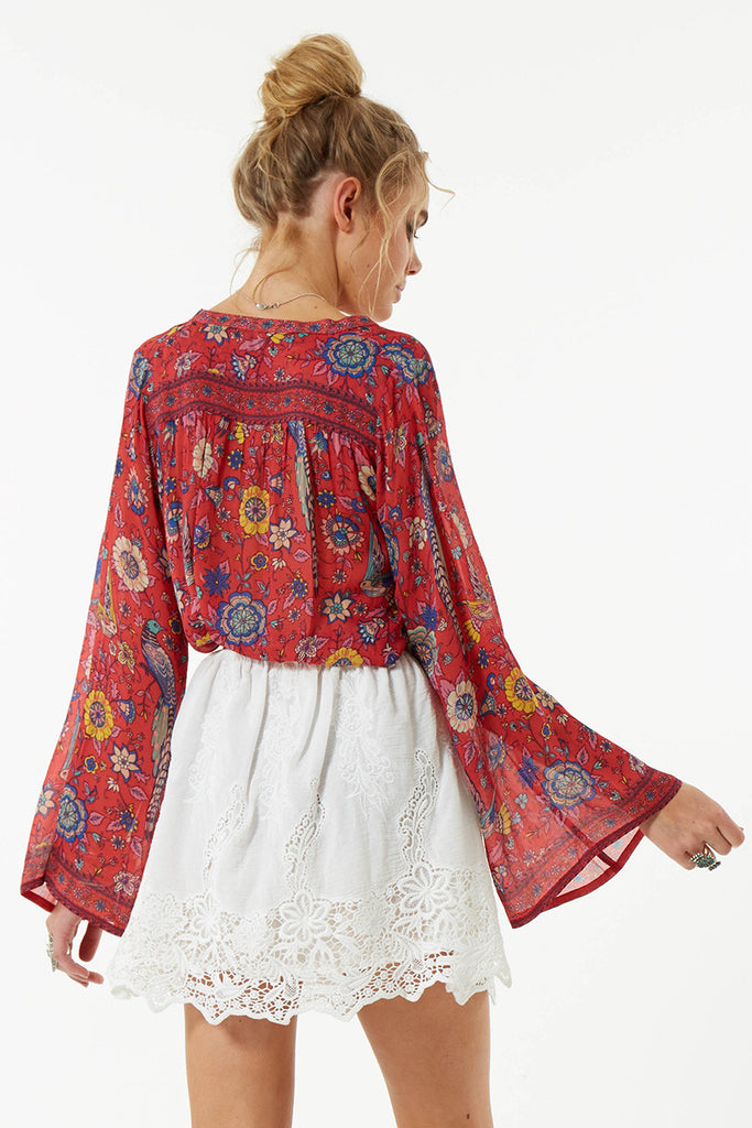 Spell Lovebird Blouse Rose - Call Me The Breeze - 6