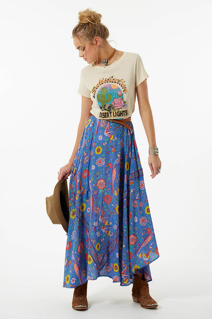 Spell Lovebird Half Moon Skirt Deep Sky - Call Me The Breeze - 6
