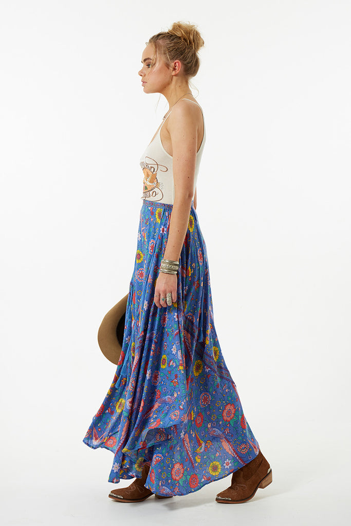 Spell Lovebird Half Moon Skirt Deep Sky - Call Me The Breeze - 8
