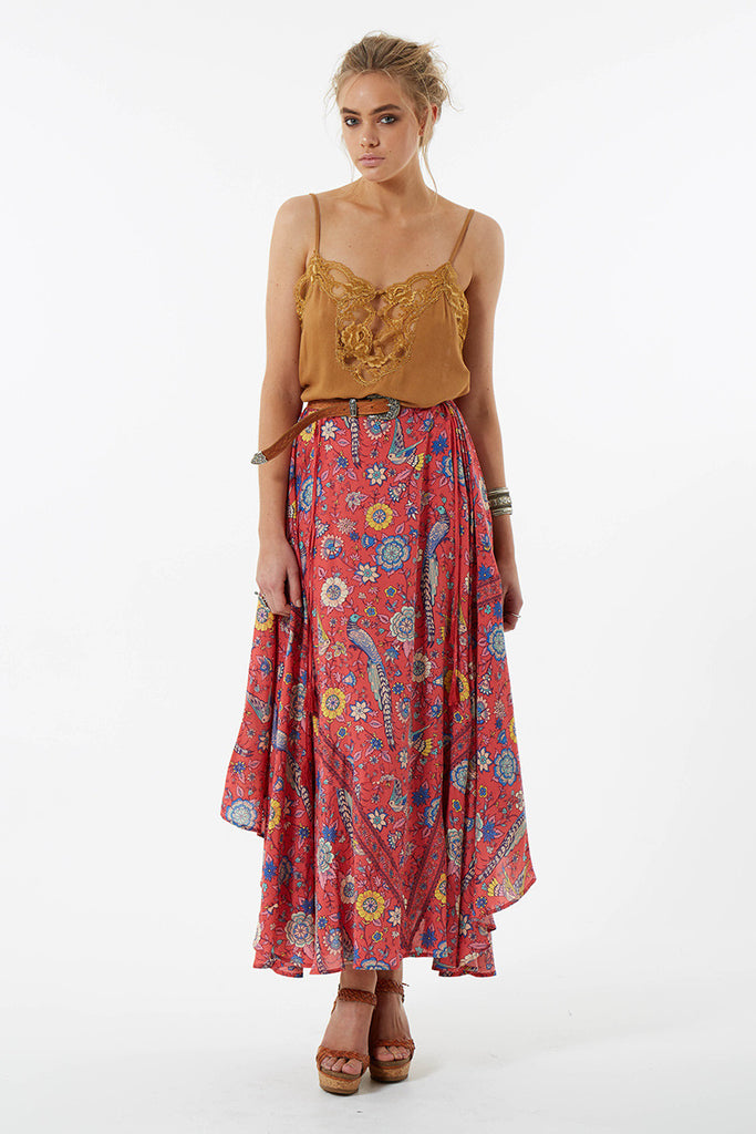Spell Lovebird Half Moon Skirt Rose - Call Me The Breeze - 5