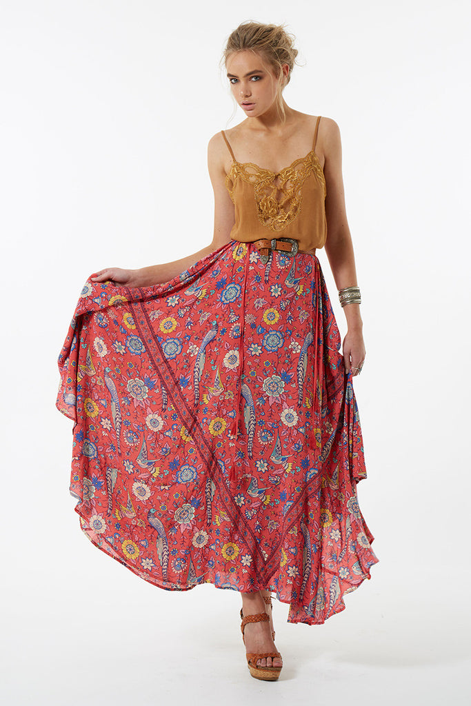 Spell Lovebird Half Moon Skirt Rose - Call Me The Breeze - 6