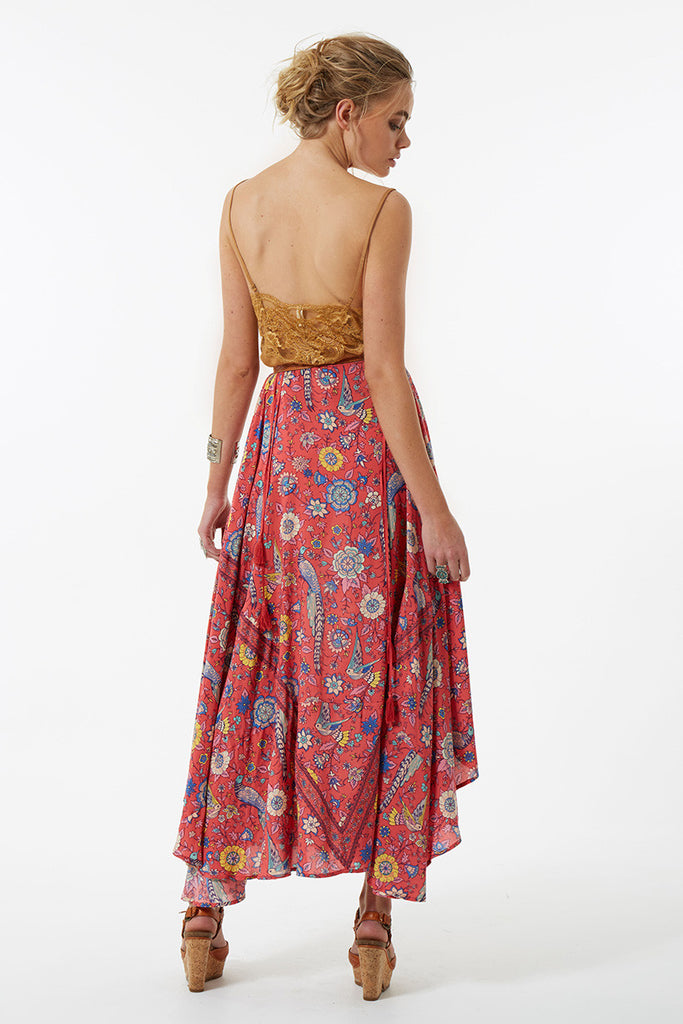 Spell Lovebird Half Moon Skirt Rose - Call Me The Breeze - 7