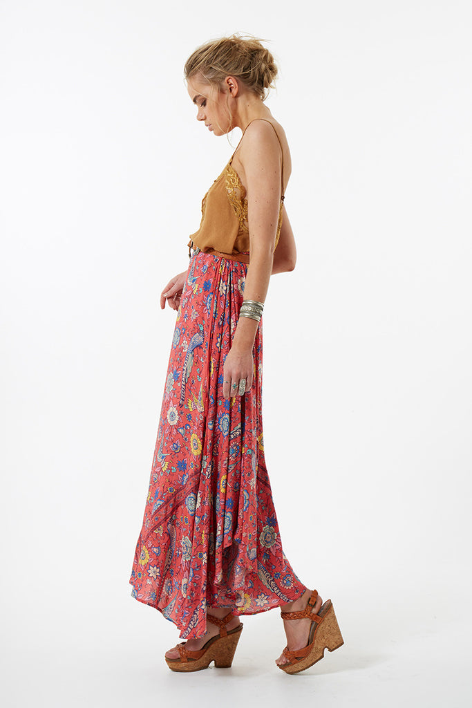 Spell Lovebird Half Moon Skirt Rose - Call Me The Breeze - 8