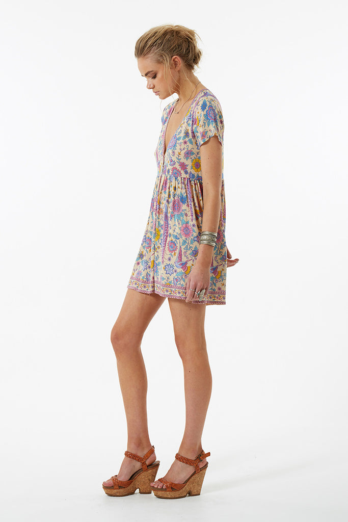 Spell Lovebird Mini Dress Chamomile - Call Me The Breeze - 4