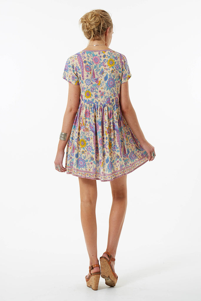 Spell Lovebird Mini Dress Chamomile - Call Me The Breeze - 2