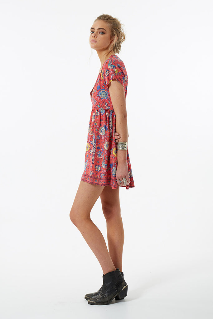 Spell Lovebird Mini Dress Rose - Call Me The Breeze - 6