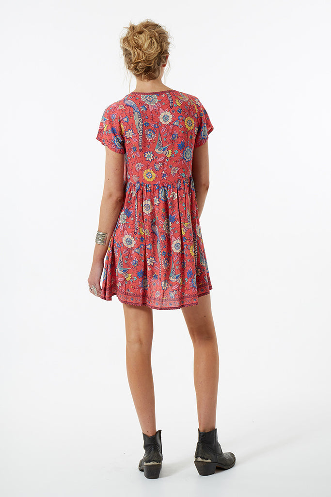 Spell Lovebird Mini Dress Rose - Call Me The Breeze - 7