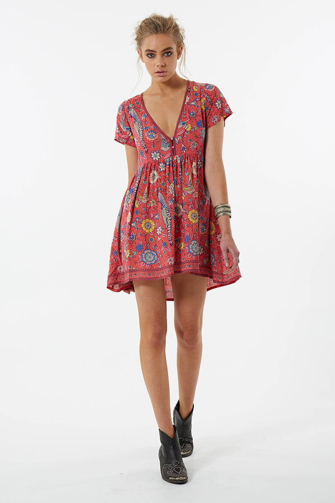 Spell Lovebird Mini Dress Rose - Call Me The Breeze - 8