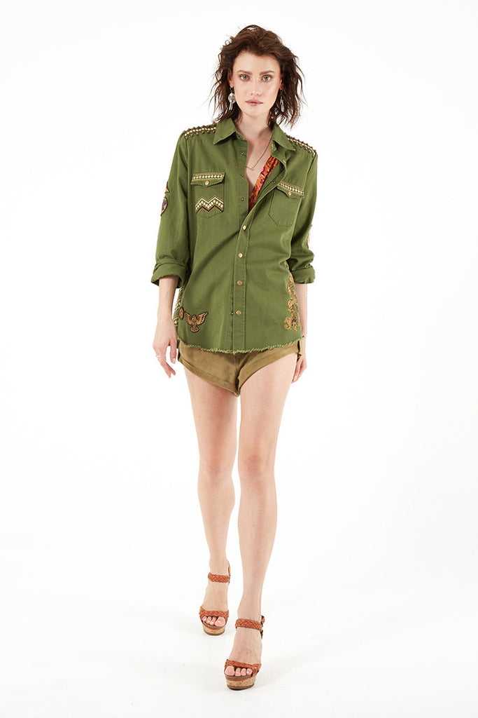 Spell Panther Embellished Army Jacket - Call Me The Breeze - 4