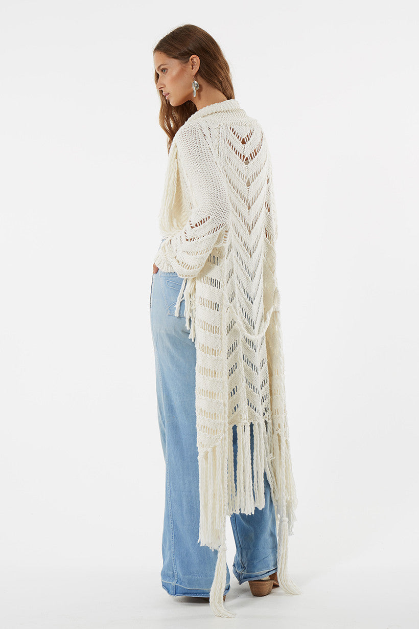 Spell Luxe Leah Hand Knit Cardigan - Call Me The Breeze - 5