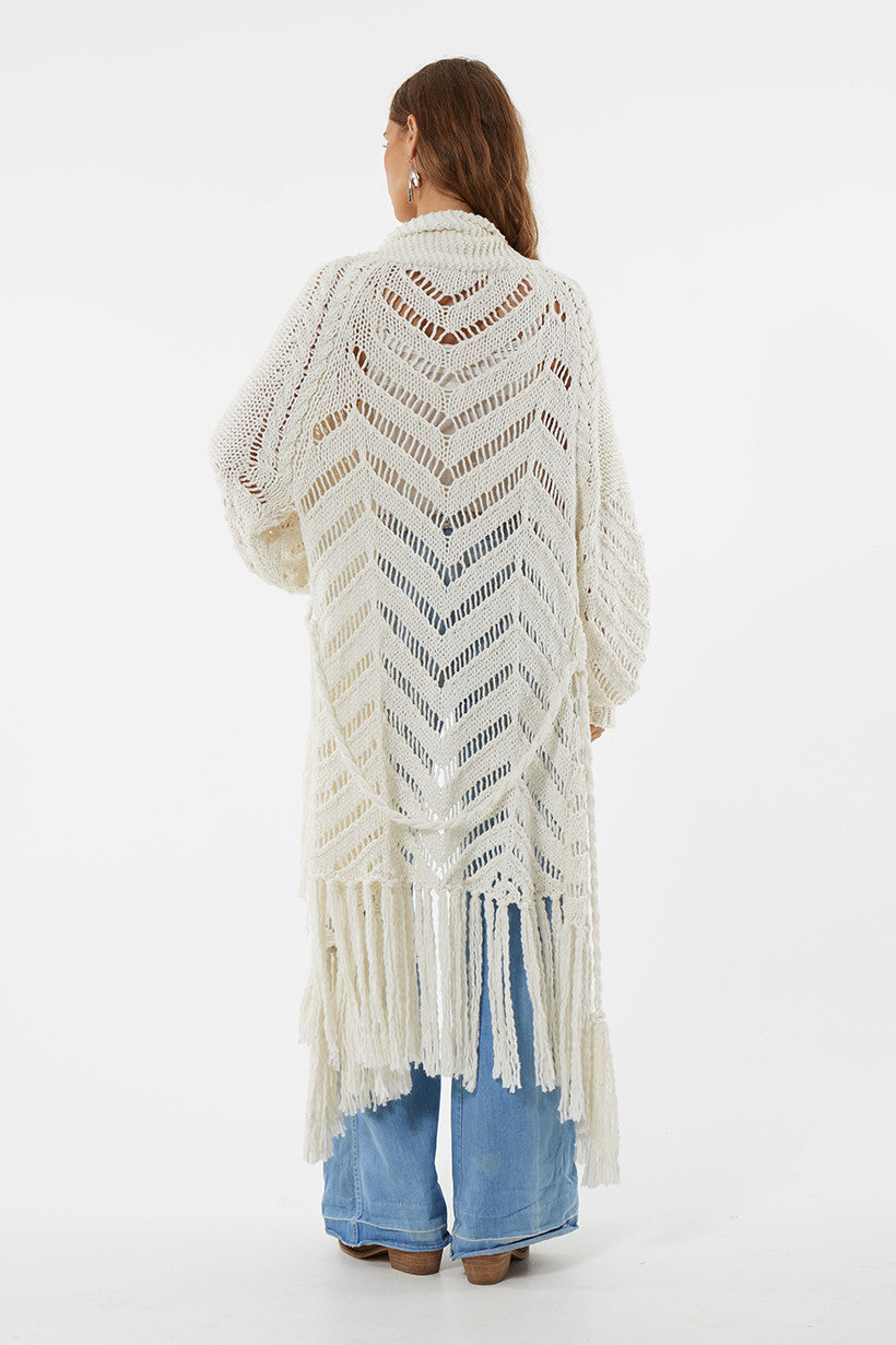 Spell Luxe Leah Hand Knit Cardigan - Call Me The Breeze - 7