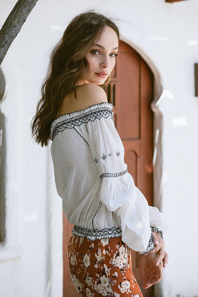 Spell Folklore Blouse Ivory - Call Me The Breeze - 3