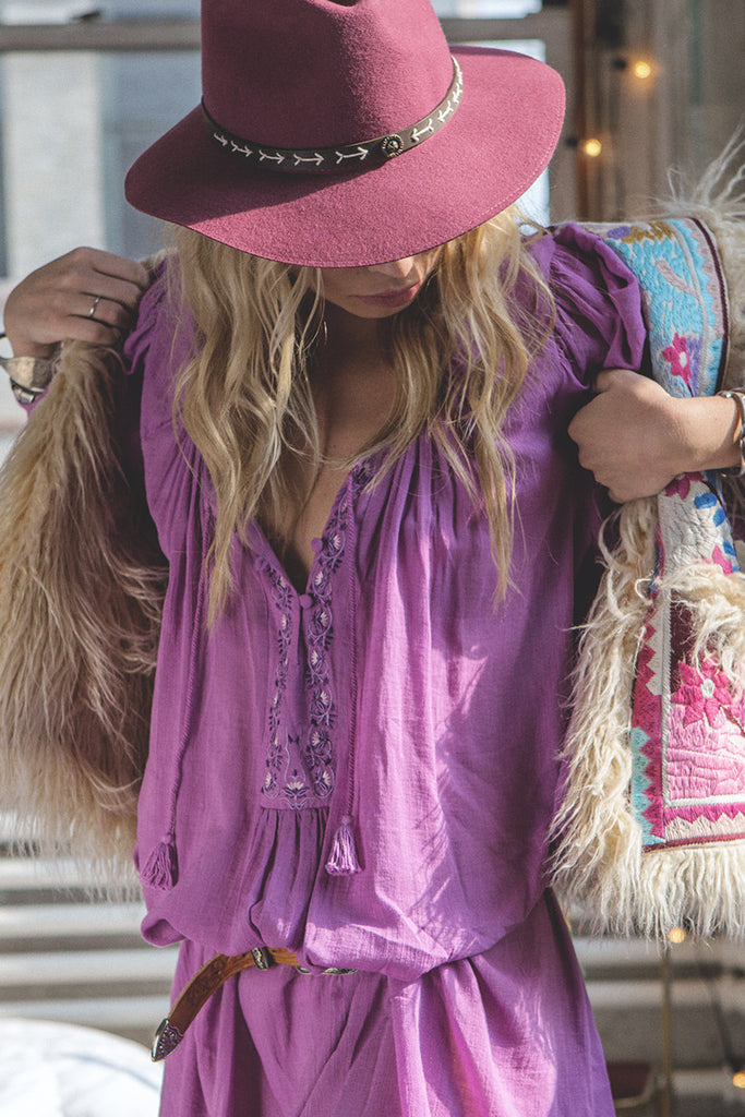 Spell Wild Orchid Smock Dress Mauve - Call Me The Breeze - 3