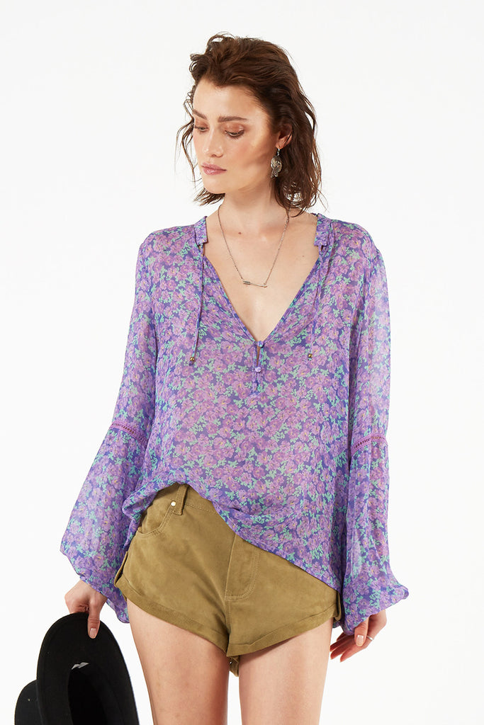 Spell Wildflower Blouse Violet - Call Me The Breeze - 4