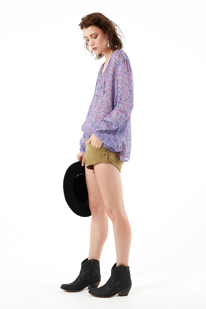 Spell Wildflower Blouse Violet - Call Me The Breeze - 6