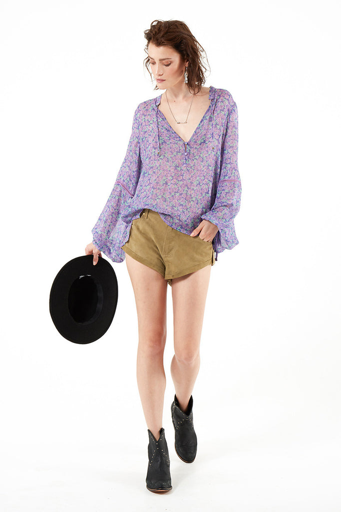 Spell Wildflower Blouse Violet - Call Me The Breeze - 7
