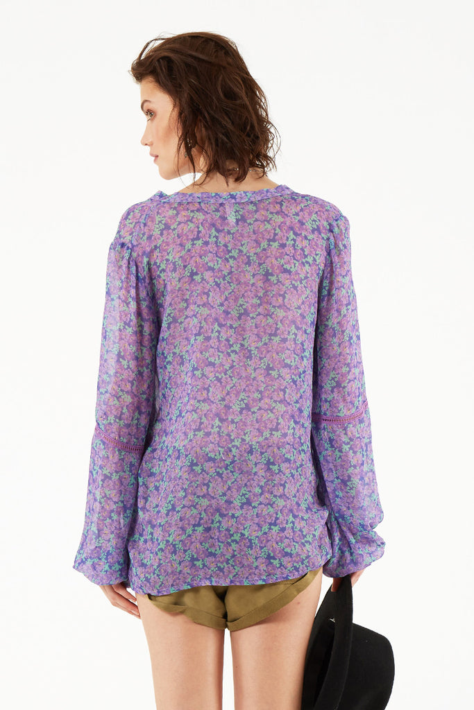 Spell Wildflower Blouse Violet - Call Me The Breeze - 5