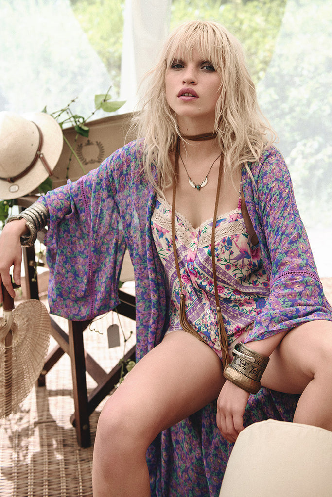 Spell Wildflower Maxi Kimono - Call Me The Breeze - 2