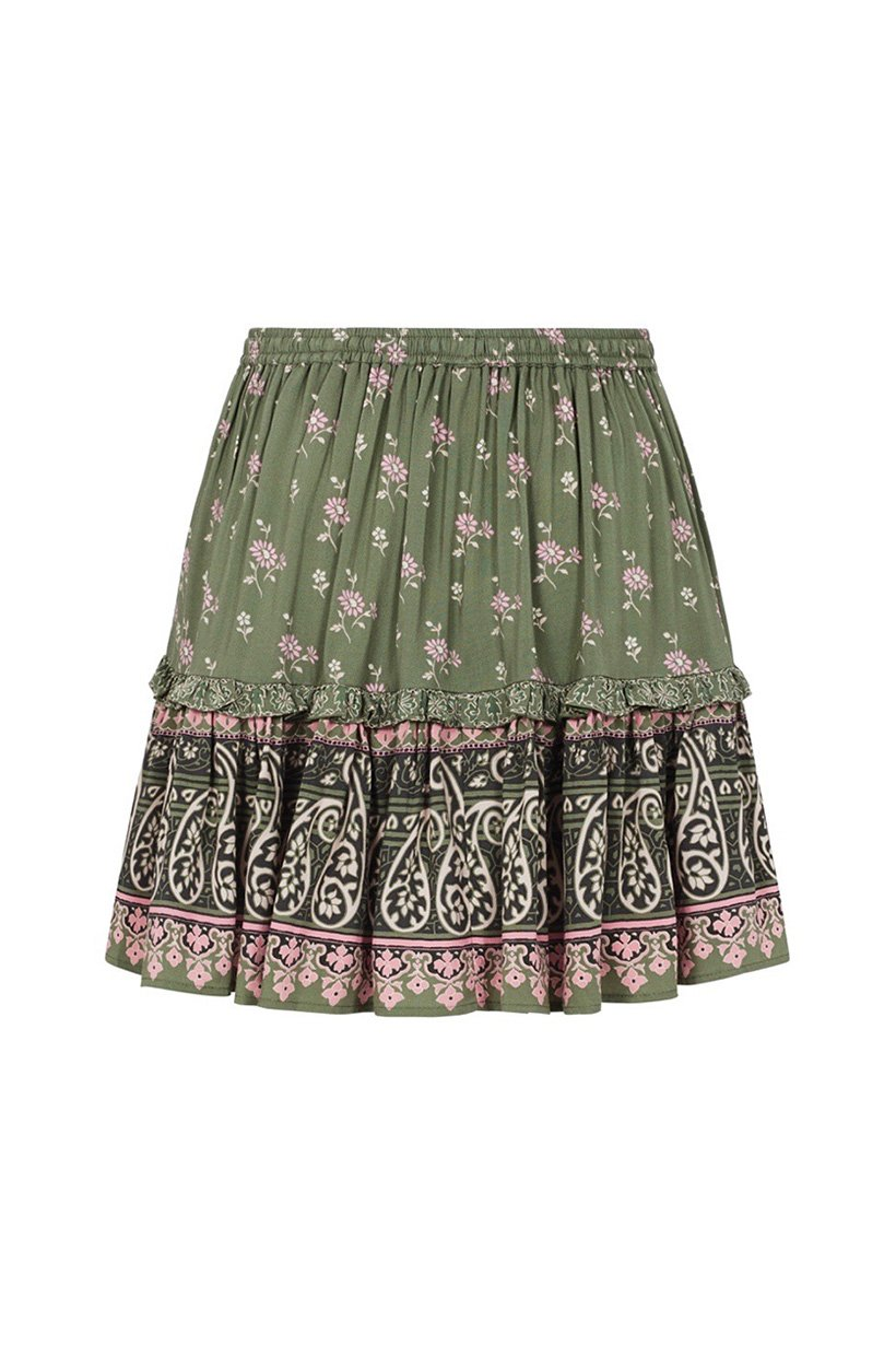 Spell Lionheart Mini Skirt Olive Grove