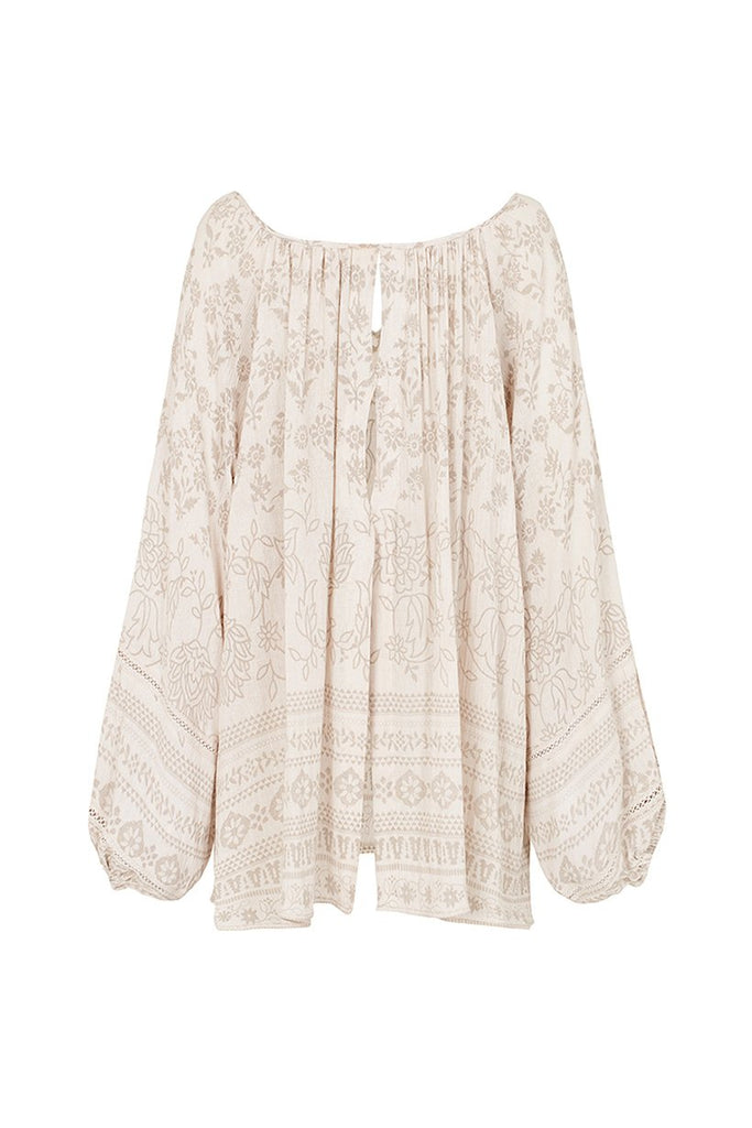 Spell Moroccan Luxe Blouse Sand