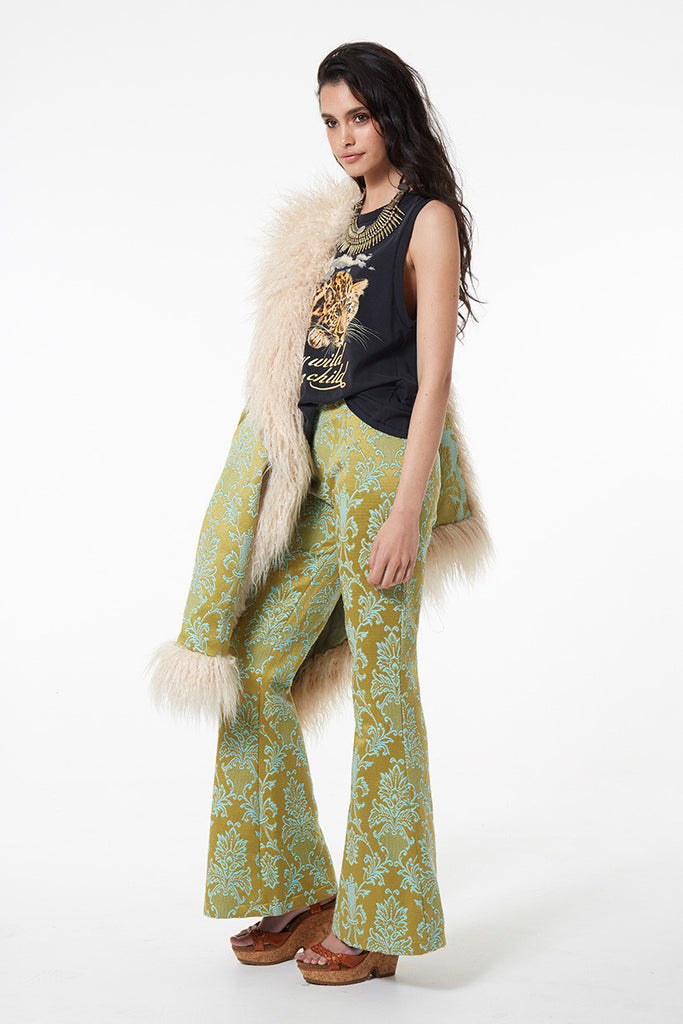Spell Anastasia Brocade Lace Up Flares