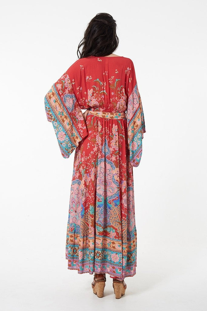 Spell Lotus Kimono Gown Ruby – Call Me The Breeze