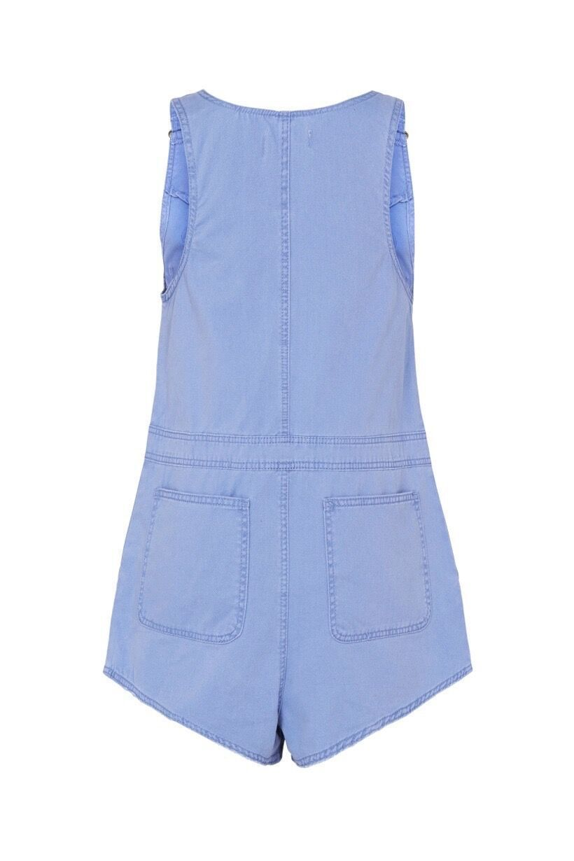 Spell Blue Belle Chambray Short Boiler Suit