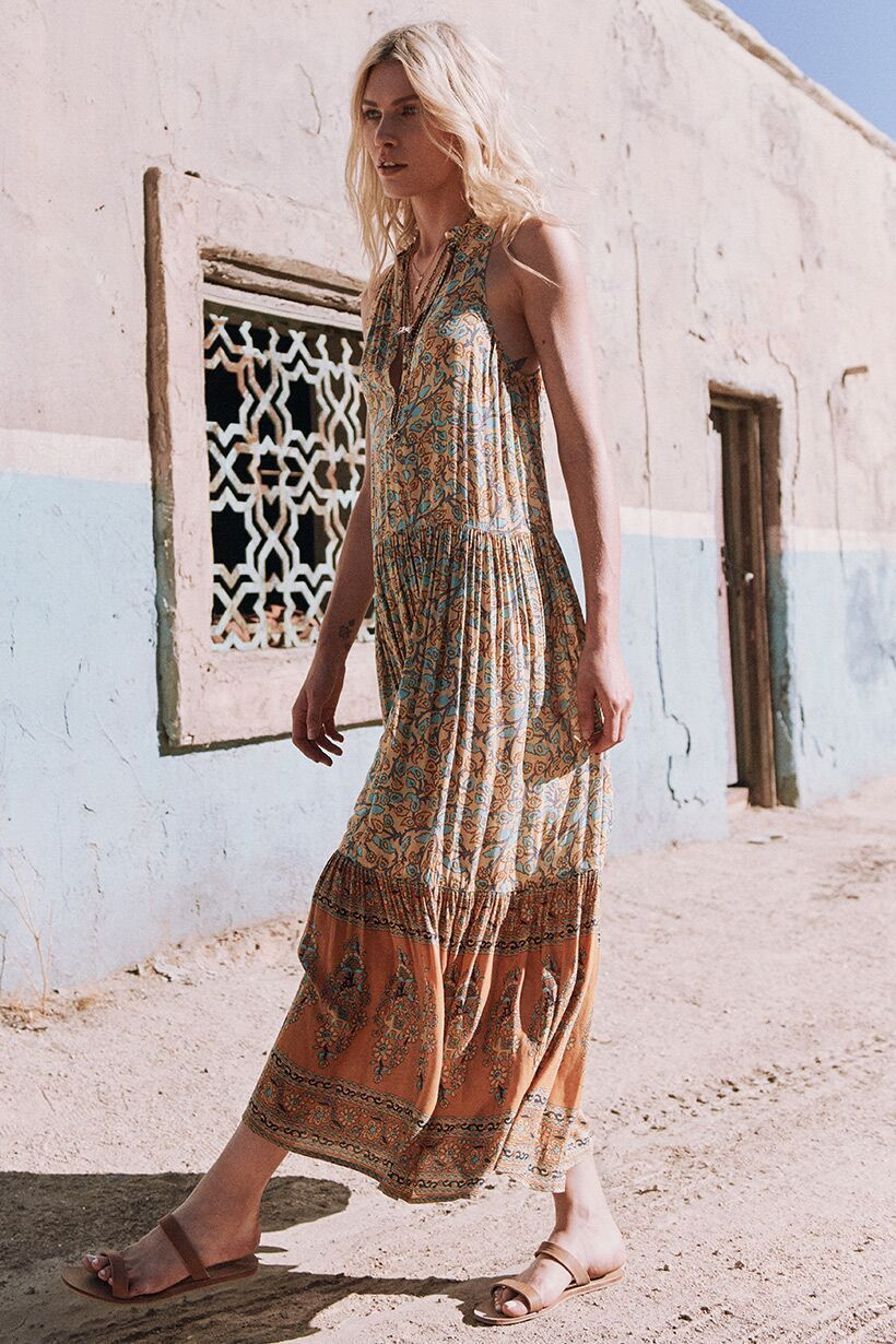 Spell Delirium Maxi Dress Gold