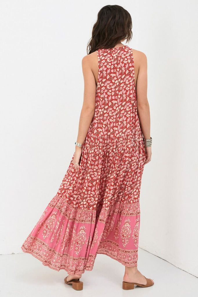 Spell Delirium Maxi Dress Red Coral