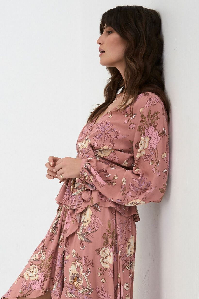 Spell Rosa Wrap Blouse Blush