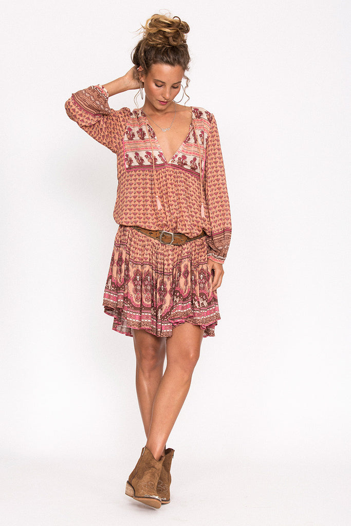 Spell Sunset Road Boho Dress Peach - Call Me The Breeze - 3