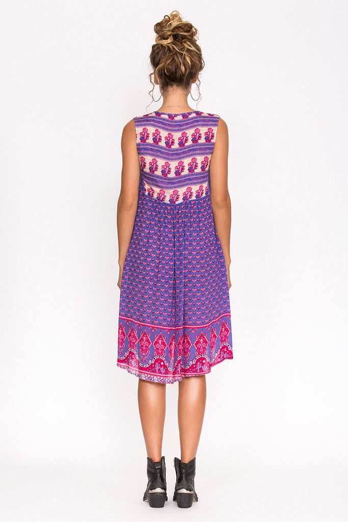 Spell Sunset Road Shift Dress Royal - Call Me The Breeze - 4