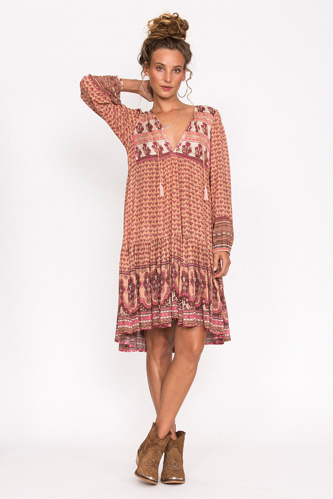 Spell Sunset Road Boho Dress Peach - Call Me The Breeze - 2