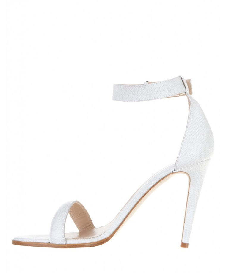 Mode Collective Ankle Strap Sandal White Lizard - Call Me The Breeze - 2