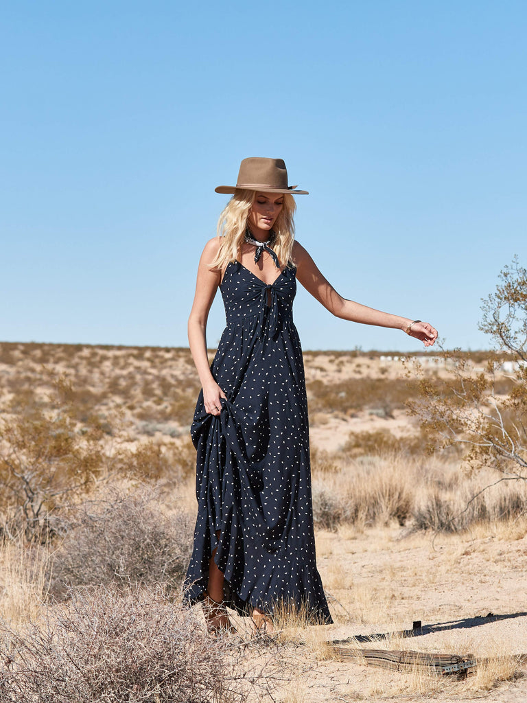 Kivari Tikal Maxi Dress Navy