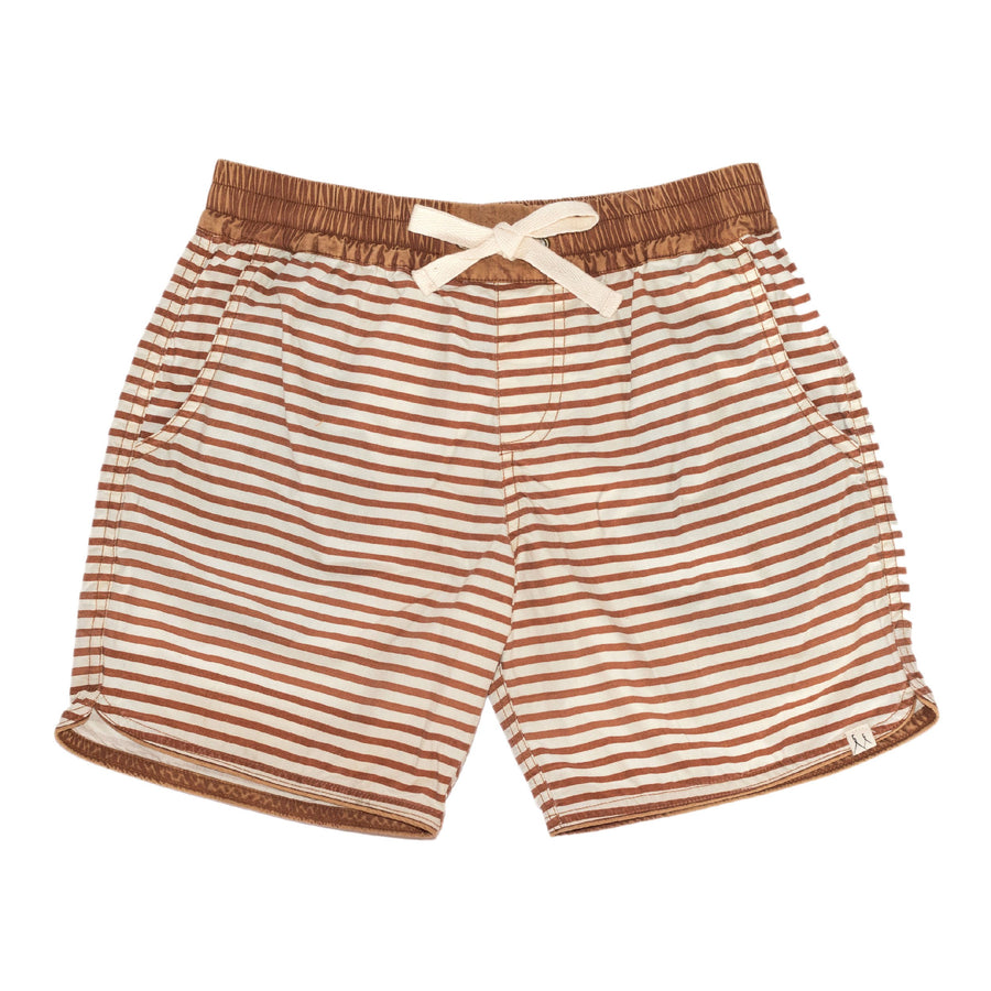 Children Of The Tribe Terracotta Stripe Drawstring Shorts