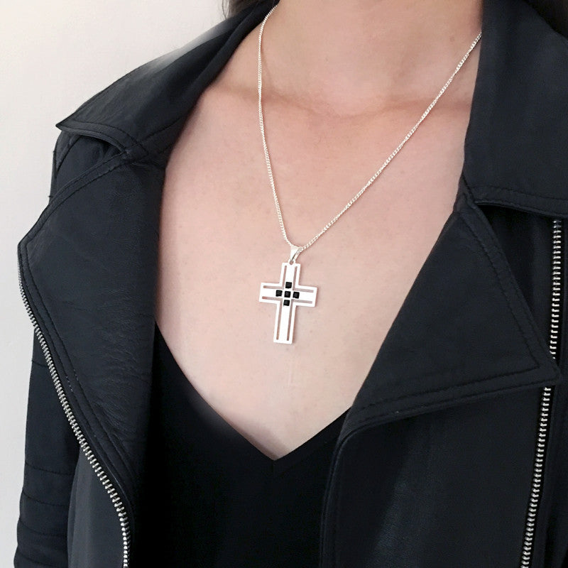 F and H Vivienne Cross Pendant Silver - Call Me The Breeze