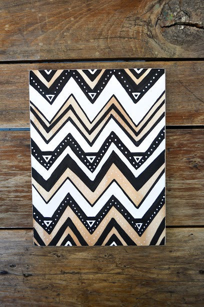 Ville Creative Original Art on Pine Black Zig Zag - Call Me The Breeze - 2
