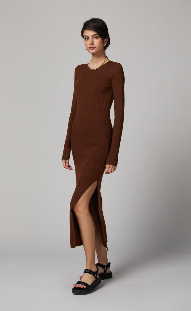 Bec and Bridge Freya LS Knit Midi Copper