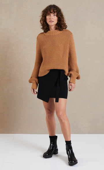 Bec and Bridge Elsa Knit Jumper Camel