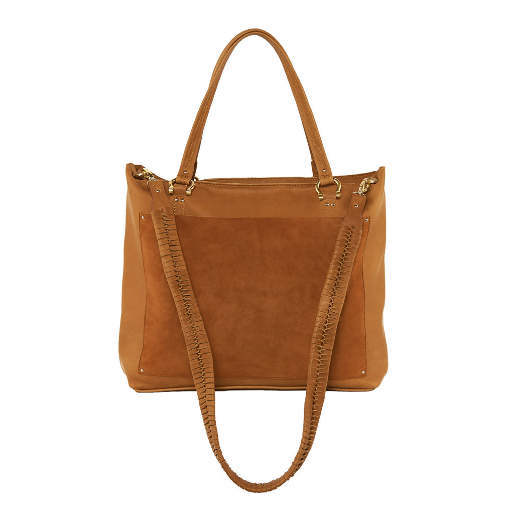 Sancia The Weekend Escape Tote Suede Cognac - Call Me The Breeze - 3