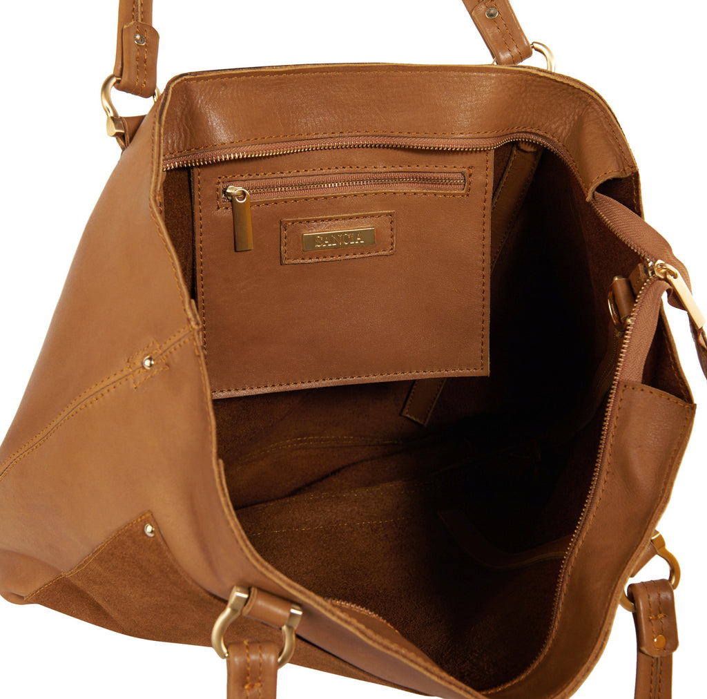 Sancia The Weekend Escape Tote Suede Cognac - Call Me The Breeze - 5