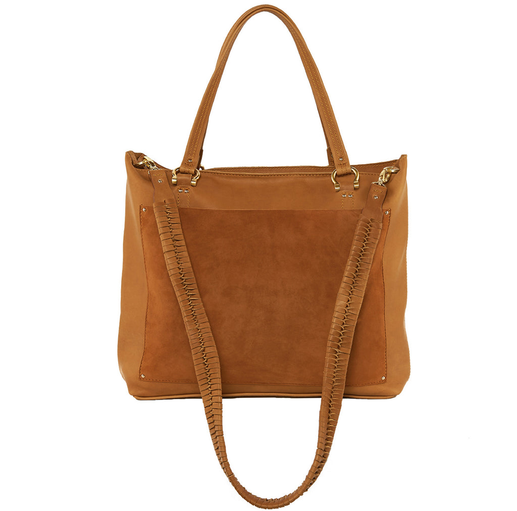 Sancia The Weekend Escape Tote Suede Cognac - Call Me The Breeze - 4
