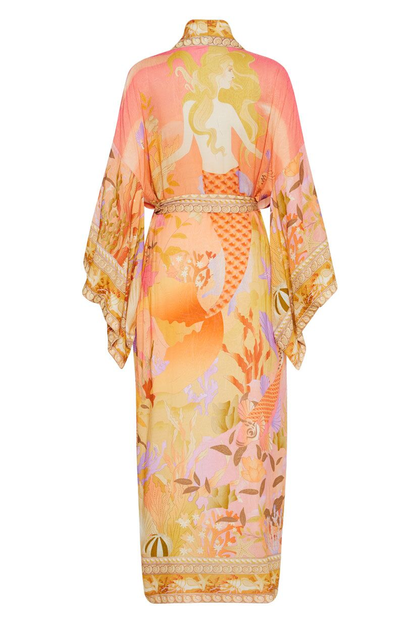 Spell Madison Maxi Robe Coral