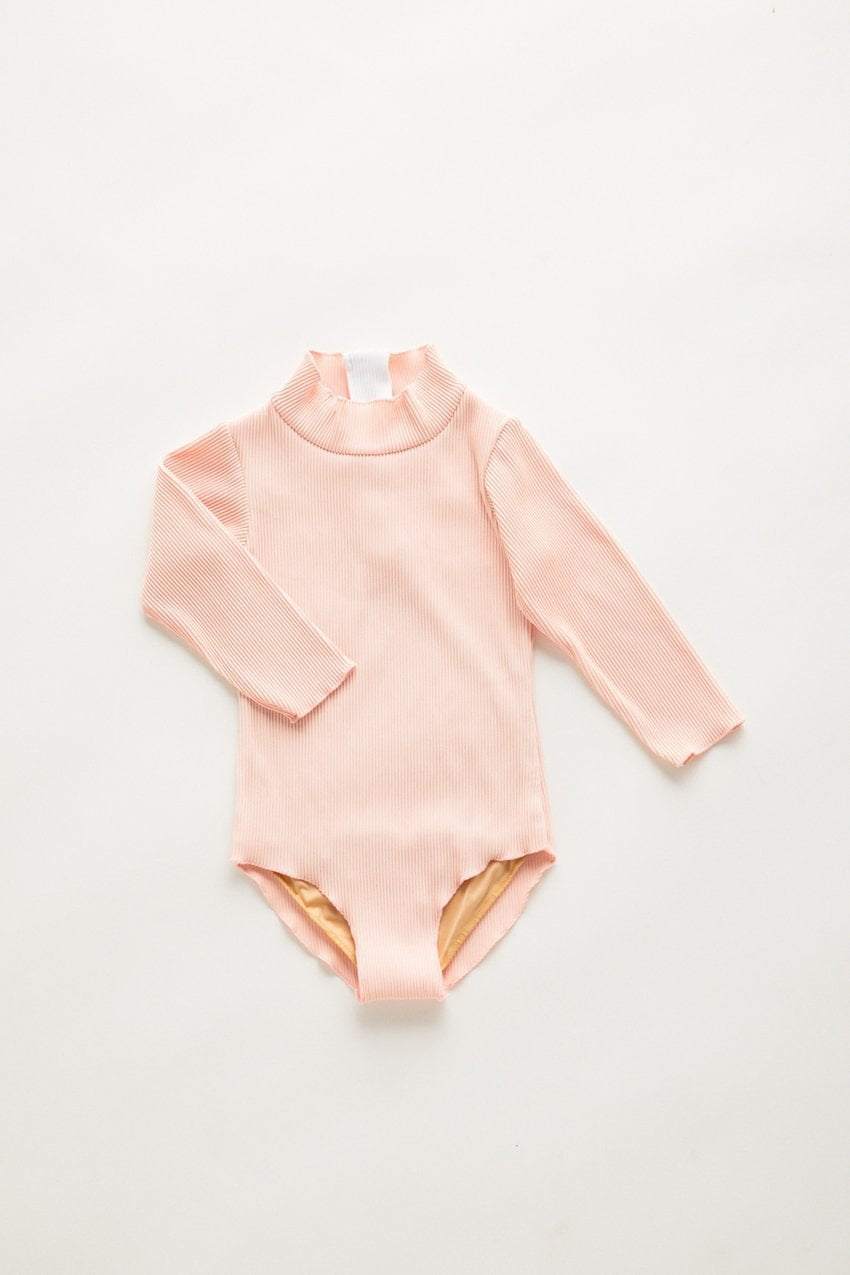 Zulu and Zephyr Mini Mermaid Edge Rashie Onepiece Blush