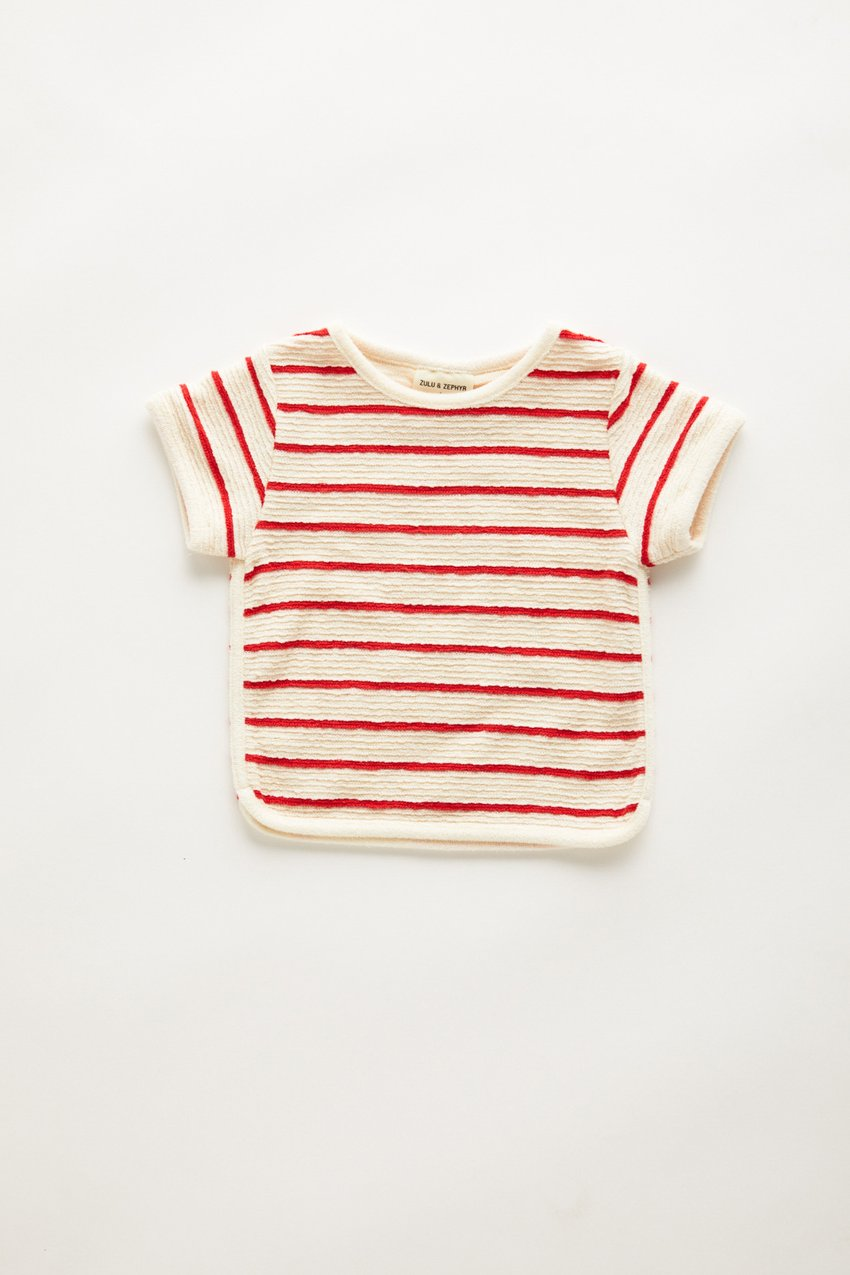 Zulu and Zephyr Mini Towel Tee Sunset Stripe
