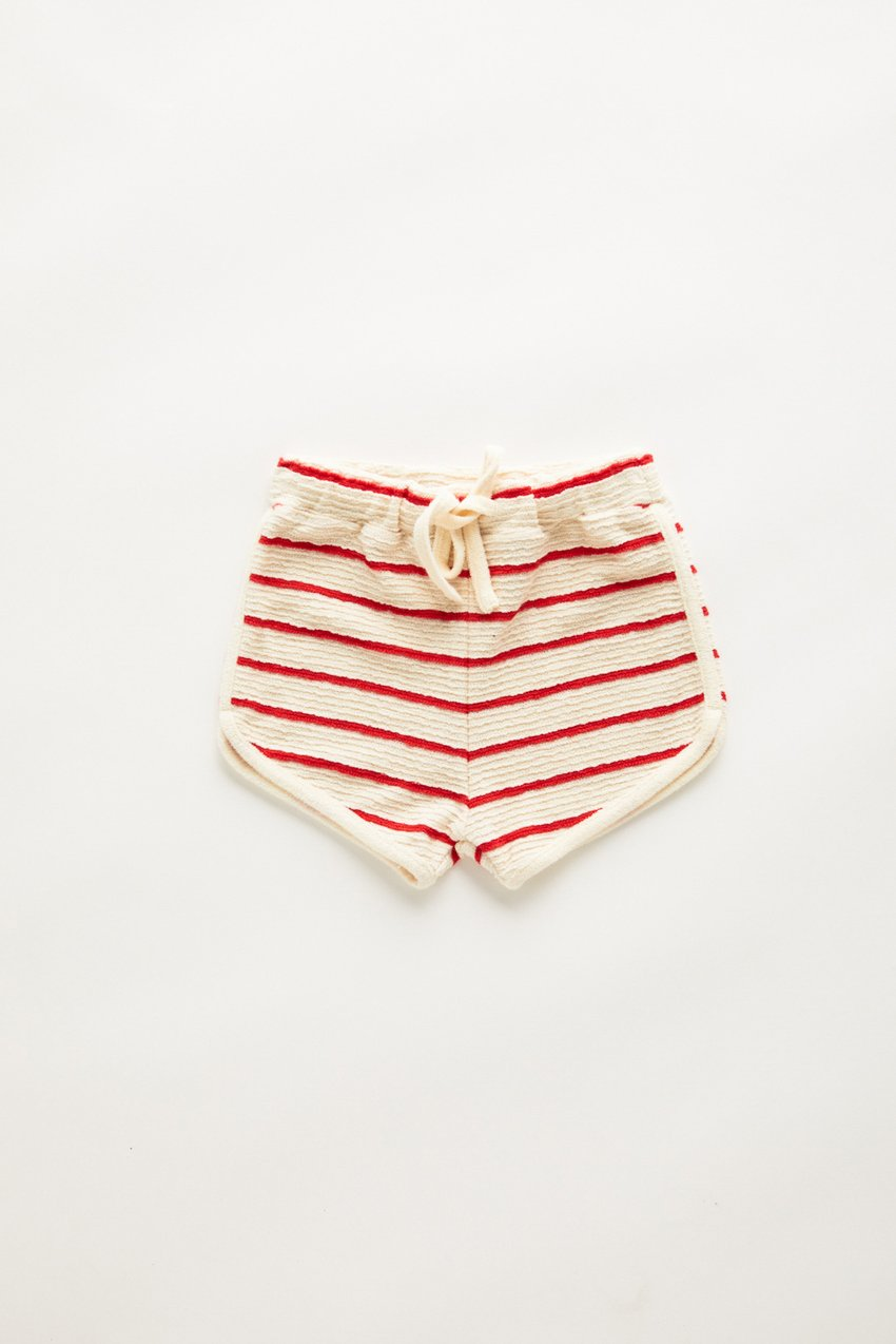 Zulu and Zephyr Mini Towel Short Sunset Stripe