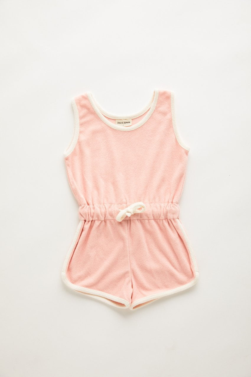 Zulu and Zephyr Mini Towel Playsuit Blush